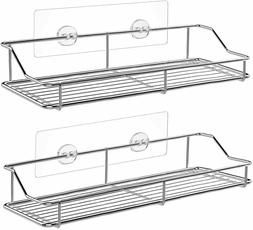 SMARTAKE 2-Pack 13in Stainless Shower Caddy - Easy Adhesive