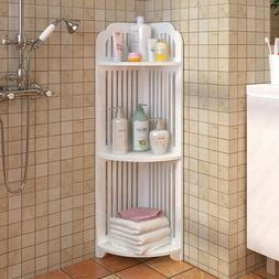 Shower Corner Pole Caddy Shelf Rack Bathroom Bath Storage Or