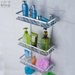 3 Tiers Aluminum Bathroom Wall Shelf Shower Caddy Tidy Organ