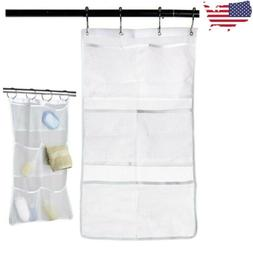 6 pocket shower organizer bathroom caddy tub