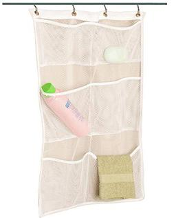 ALYER 6 Storage Pockets Hanging Mesh Shower Caddy,Space Savi