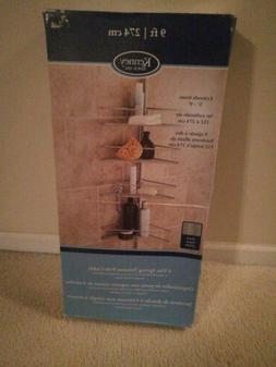 Kenney 4-Tier Triangle Basket Tension Pole Shower Caddy, Sat