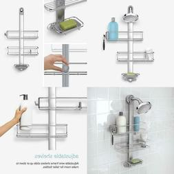 simplehuman Adjustable Shower Caddy Stainless Steel and Anod