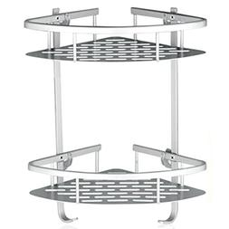 Lancher Bathroom Shelf  Durable Aluminum 2 Tiers Shower Shel