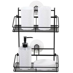 Bathroom Tub Shower Caddy Easy Adhesive Wall Mounted Shelf S