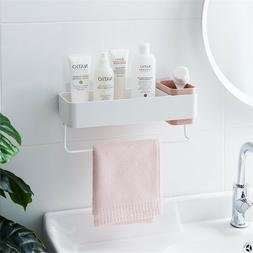 Bathroom Wall Organizer, Shower Caddy Adhesive Mounted Towel
