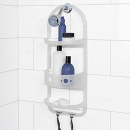 Heavy Duty Bay Over-the-Shower Caddy in Frosted Clear I Non