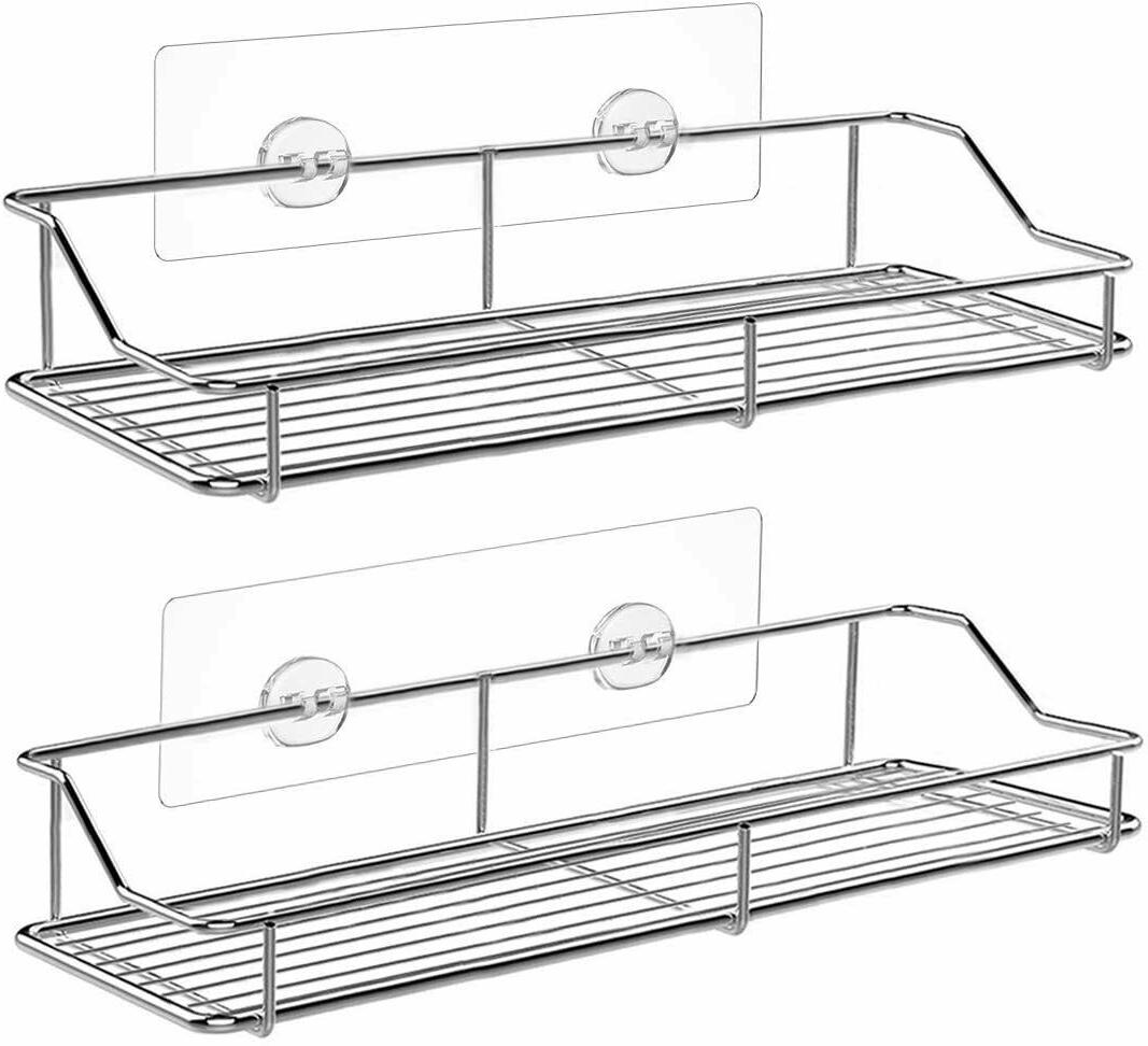 2 pack 13in stainless shower caddy easy
