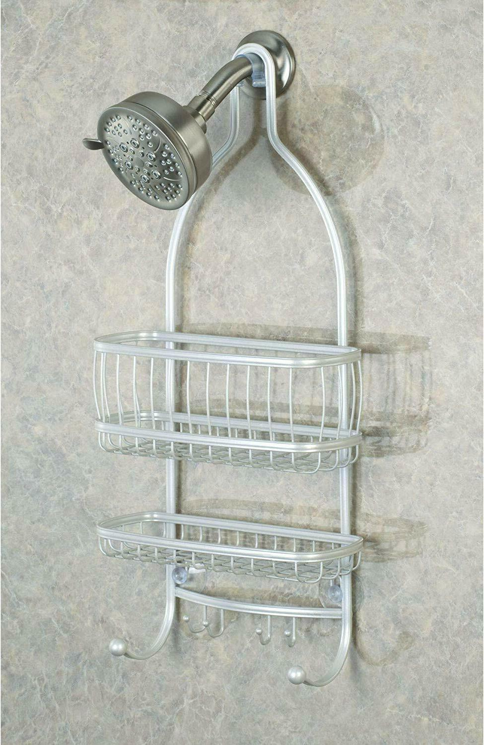 2-Tier Anti-Rust Pearl White Metal the Caddy Hooks