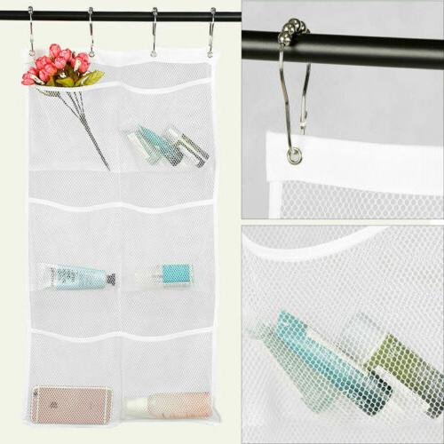 6-Pocket Shower Organizer Bathroom Bath Holder Wall Hang Mesh Storage
