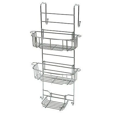Zenna Home E7803STBB, Over-the-Shower Door Caddy, Stainless