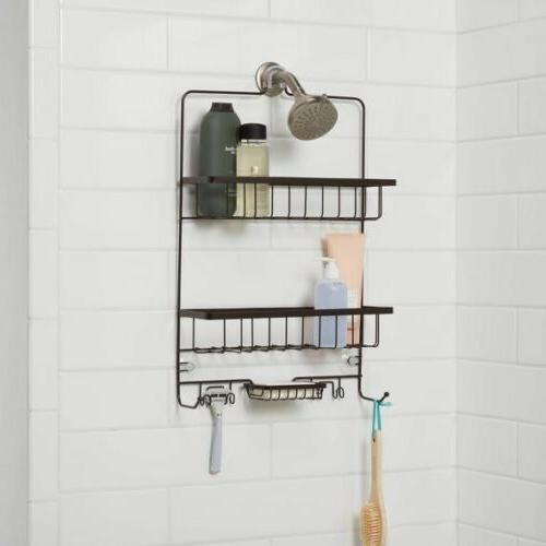 large bronze bathroom shower caddy by made