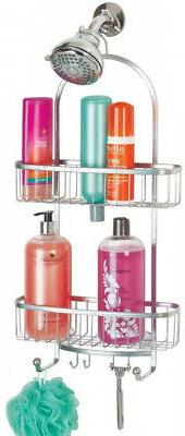 mDesign Large Metal Bathroom Tub and Shower Caddy Hanging St