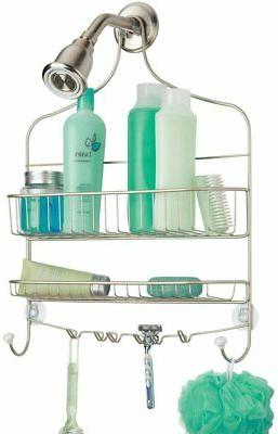mDesign Extra Wide Metal Wire Bathroom Tub and Shower Caddy,