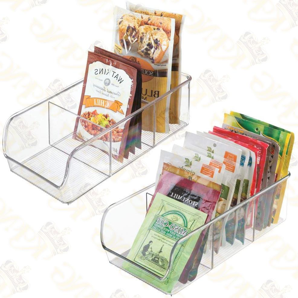 MDesign Plastic Food Packet Kitchen Caddy 2