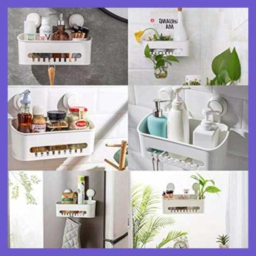 LEVERLOC Shower Caddy Cup & Hooks NO Removable Heavy