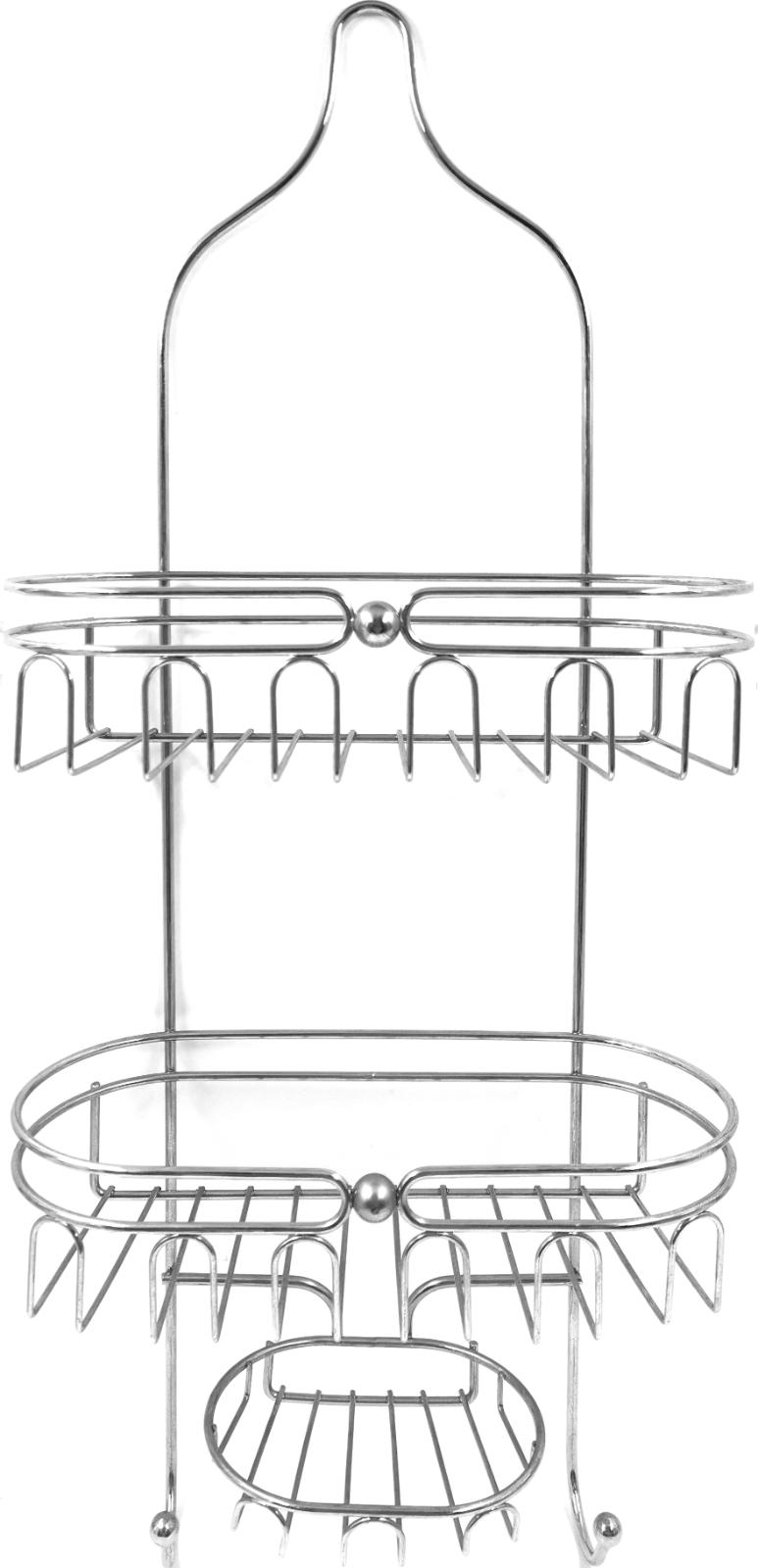 stainless steel bathroom tub and shower caddy