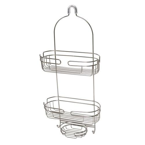 stainless steel over shower caddy