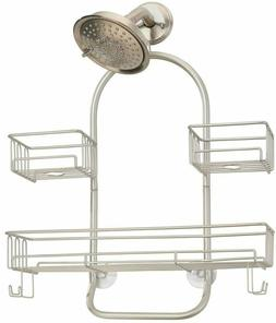 mDesign Extra Wide Metal Wire Tub & Shower Caddy Matte Satin
