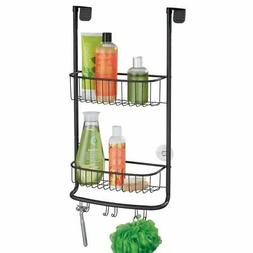 mDesign Modern Metal Bathroom Tub and Shower Caddy, Hanging