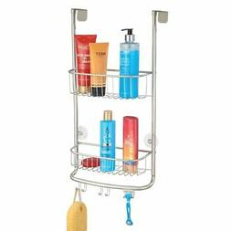 mDesign Modern Metal Bathroom Tub and Shower Caddy, Over Doo