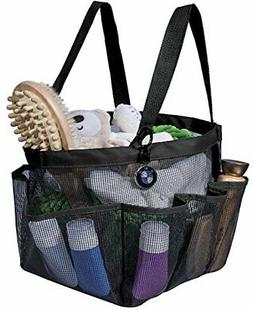 Attmu Portable Shower Caddy with 8 Mesh Storage Pockets Quic