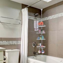 Rustproof Stainless Steel Tension Corner Shower Caddy with A
