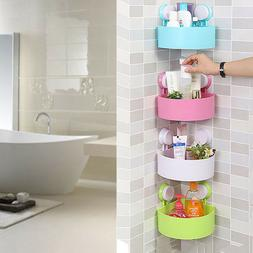 Suction Cup Corner Shelf Shower Basket Caddies Bathroom Stor