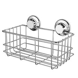 Ipegtop Suction Stainless Steel Rectangle Shower Caddy Shelf