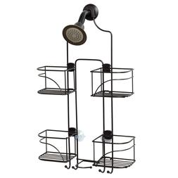 Zenna Home E7446HB, Expandable Over-the-Showerhead Caddy, Br